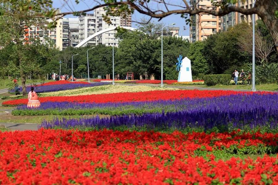 古亭河濱花海鄰近師大公館商圈。(圖取自台北旅遊網)
