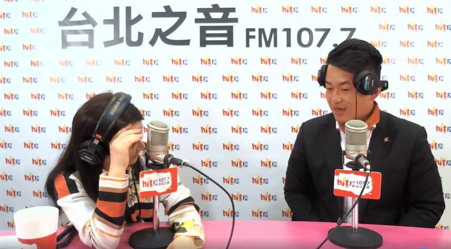 陳柏惟接受專訪時,表示進立院最想跟林佳龍、徐國勇交手。(圖/翻攝Hit Fm聯播網-周玉蔻嗆新聞臉書)
