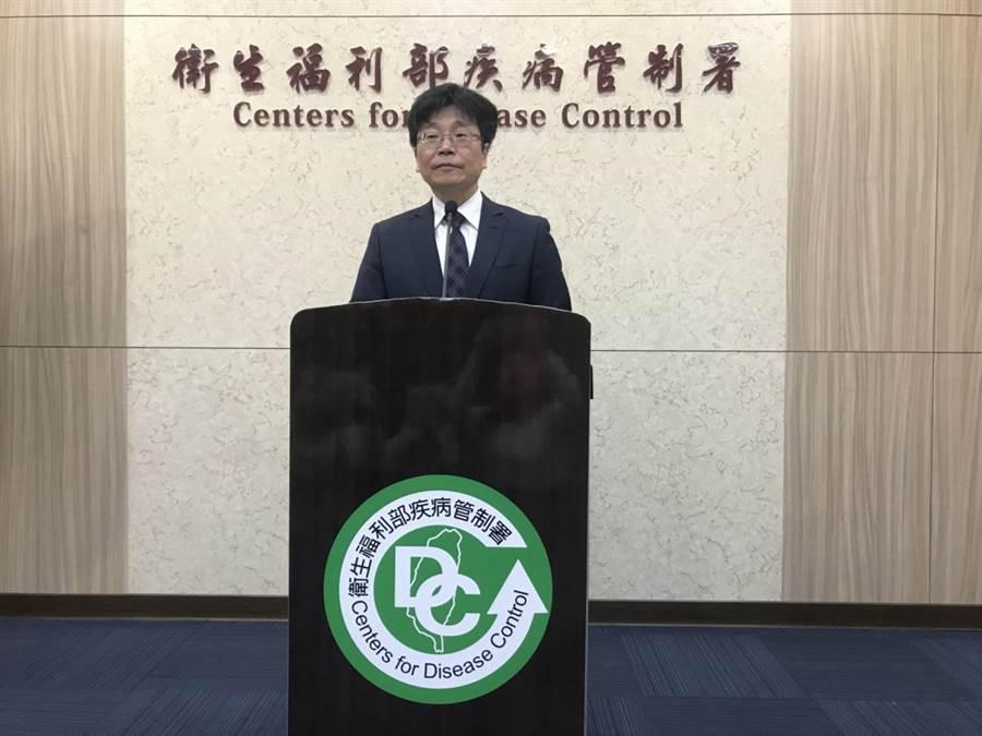 疾管署長周志浩表示,不排除會人傳人,提醒有呼吸道感染民眾應自主戴口罩。(鄭郁蓁攝)