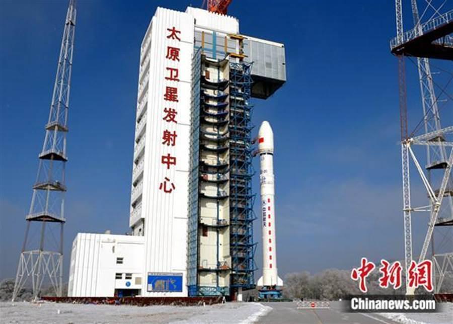 陸成功發射「吉林一號」寬幅01星等4顆衛星。(照片取自中新網)