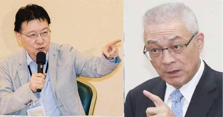 資深媒體人趙少康(左)、國民黨黨主席吳敦義(右)。(圖/合成圖,本報資料照)