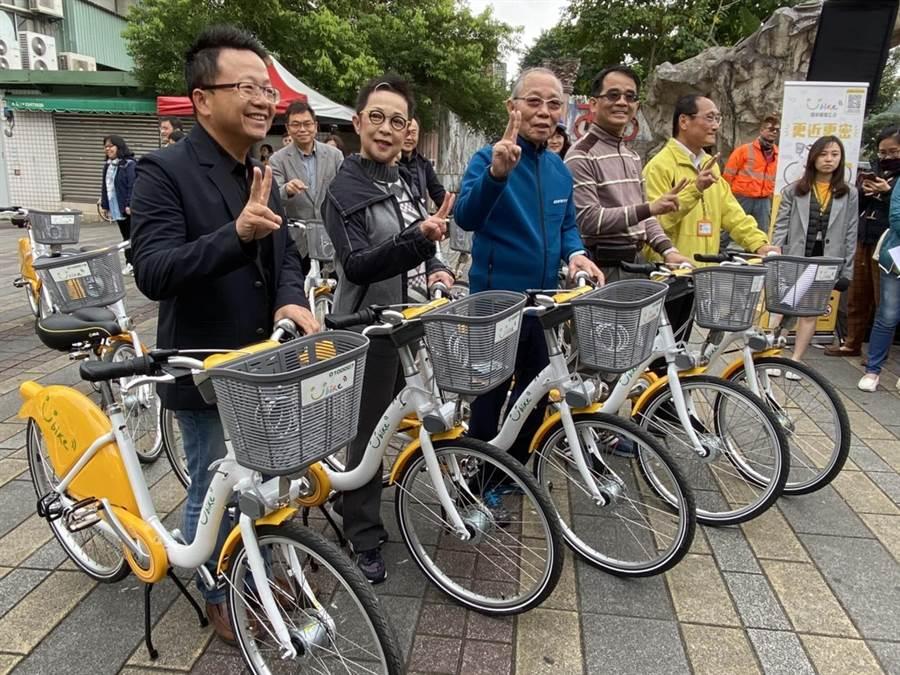 台北市交通局今起在公館推動YouBike 2.0試辦計畫。(游念育攝)