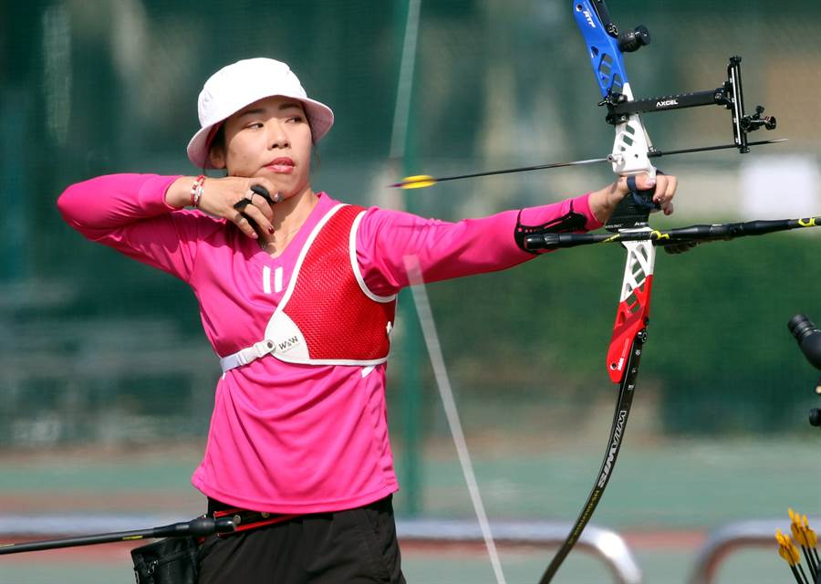 譚雅婷目前在東京奧運射箭國手選拔賽位居第二。(中華民國射箭協會提供/陳筱琳傳真)