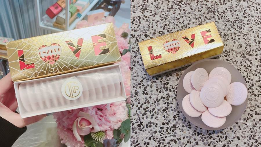 LOVE馬卡龍香皂禮盒Heart Edition。(圖/邱映慈攝影)