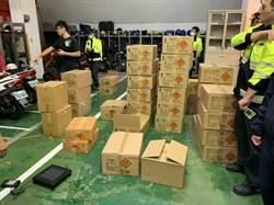 三重中古車行存放520公斤爆竹 警方全數沒收開罰