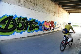 北市河濱開放7處塗鴉牆 揮灑創意不怕罰
