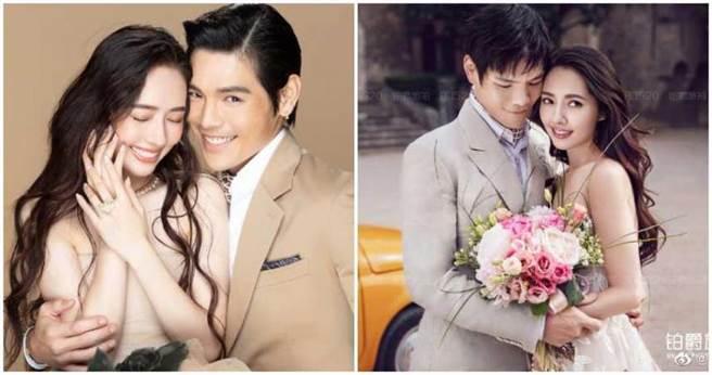 郭碧婷和向佐的婚禮,由陳嵐一手操刀。(合成圖/郭碧婷微博)