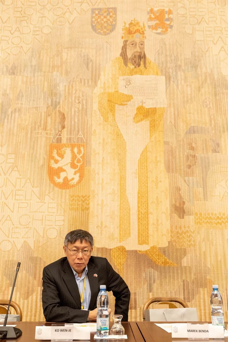 台北市長柯文哲赴歐洲參訪。(台北市政府提供/張立勳台北傳真)