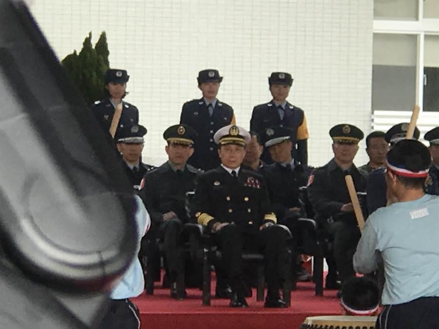 黃曙光明布達 ,總統參訪空軍基地劉志斌陪同。曾薏蘋攝