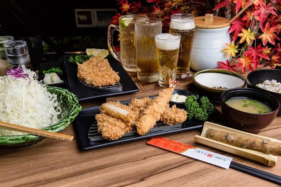 大成集團旗下日式炸豬排連鎖餐廳「勝博殿」在永和比漾廣場,開出餐酒館新店型。(圖/業者提供)