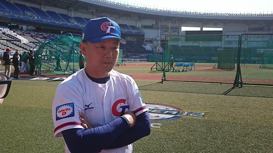 富邦悍將總教練洪一中繼續擔任中華隊總教練,角逐「6搶1奧運資格賽」最後1個席次。(資料照/廖德修攝)