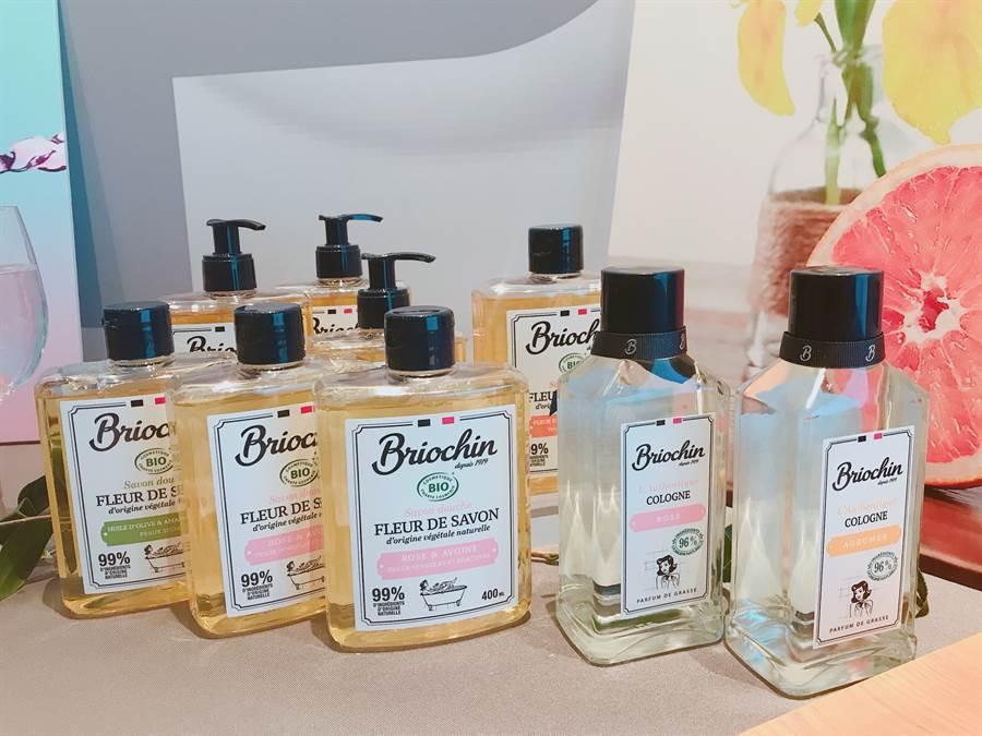 法國碧歐馨的天然有機美體洗護系列。(圖/邱映慈攝影)