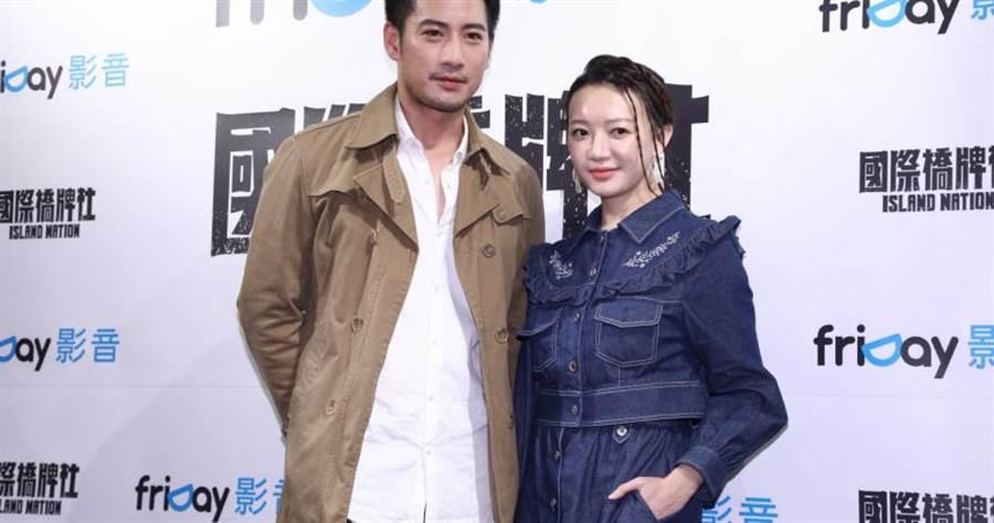 周孝安、李杏在《國際橋牌社》有感情戲。(圖/彭子桓攝影)