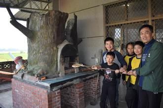 樹人國小柴燒窰啟用 校園飄烤披薩香
