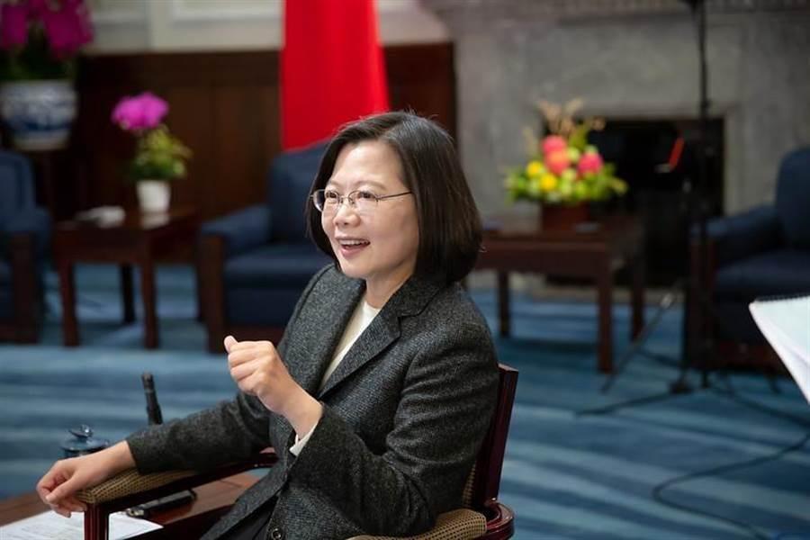 總統蔡英文接受BBC專訪。(圖/總統府提供)
