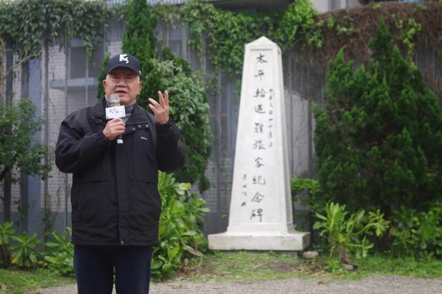 太平輪遺族、棒球資深球評張昭雄,期待看到年底新地景公園落成。(許家寧攝)