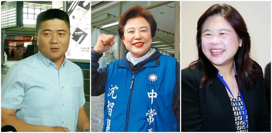 顏寬恒(左起)、沈智慧、李永萍。(本報資料照片)