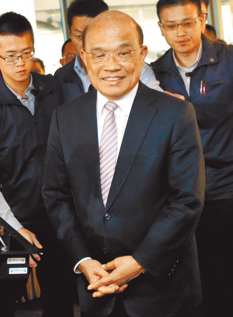 行政院長蘇貞昌留任。(本報資料照片)