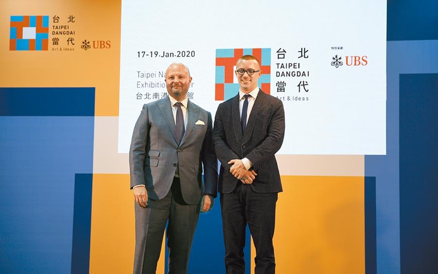 2020台北當代首次出現雙總監,任天晉(左)與岳鴻飛為聯合總監。(台北當代提供/李怡芸台北傳真)