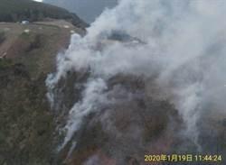 梨山佳陽火燒山逾1.5公頃 空勤2黑鷹馳援