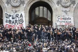 抗議年金改革,巴黎歌劇院戶外演奏比才名曲
