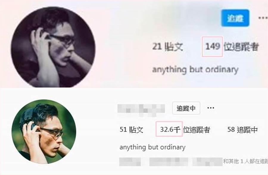 「特勤吳彥祖」的粉絲從原先的149位追蹤者,變成3萬2600多位。(圖/翻攝自特勤吳彥祖IG)