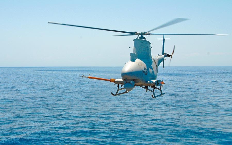 MQ-8「火力偵察兵」無人機。(取自美國海軍官網)