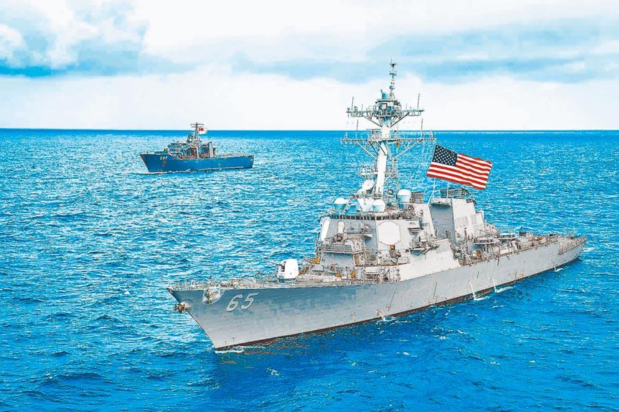 美國陸軍計畫在太平洋地區部署專門特遣部隊,圖為2018年美軍班福特號驅逐艦通過台海。(取自美國海軍官網)