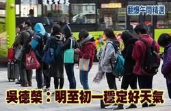 《翻爆午間精選》吳德榮:明至初一穩定好天氣