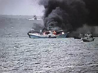 漁船海上失火 海巡海上搶救2人生還