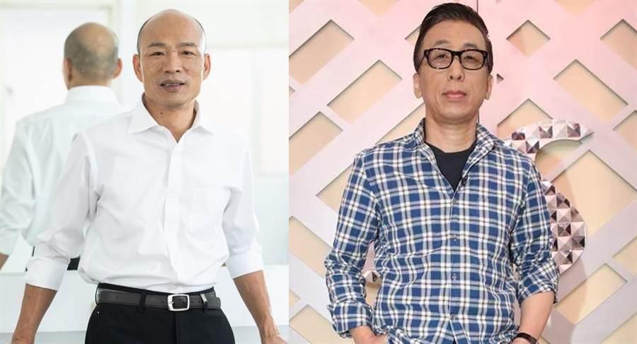 高雄市長韓國瑜(左)、作家苦苓(右)。(合成圖/摘自韓國瑜臉書、中時資料照)