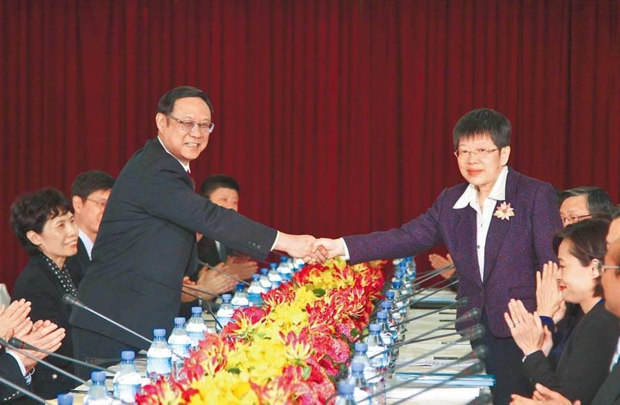2015年1月29日,兩岸經濟合作委員會在台北開會,回顧ECFA生效以來的執行情況。(中新社資料照片)