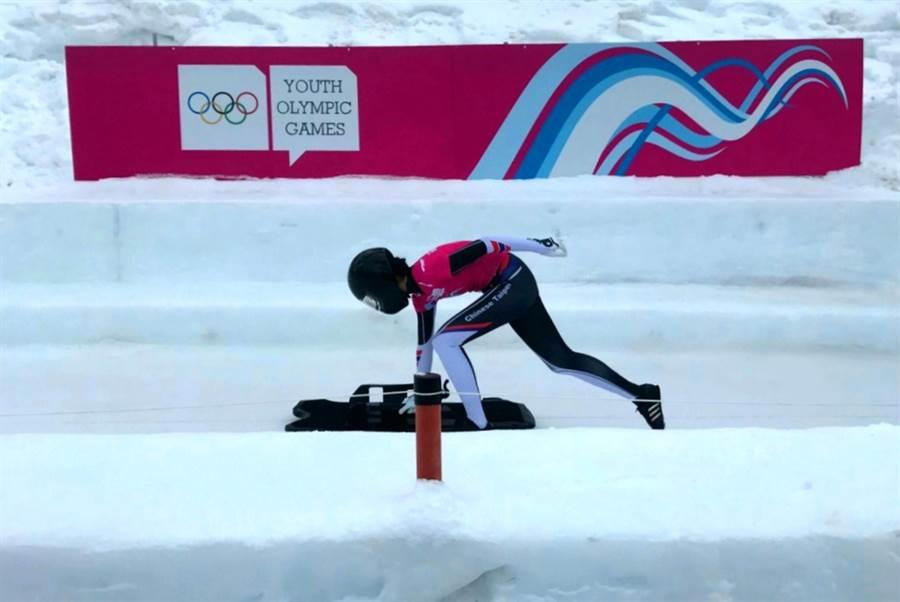 呂佳欣雖然錯過了籃球與田徑,但她在空架雪車圓了夢。(中華奧會提供)