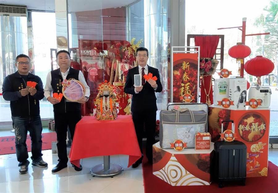 台南大遠百推出五鼠鬧新春福袋凝聚年節人氣。圖/陳惠珍