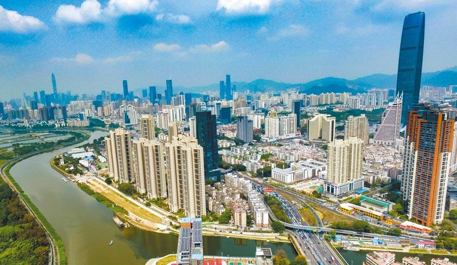 圖為深圳市景。(新華社資料照片)