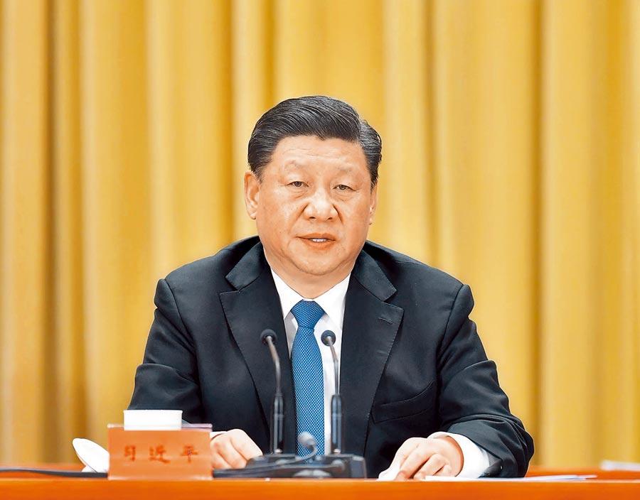 2019年1月2日,大陸國家主席習近平在《告台灣同胞書》發表40周年紀念會宣布「習五條」。(新華社)