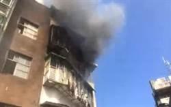 北市研究院路火警  消防灌救清查中
