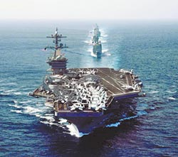 施壓北韓 美羅斯福號航母奔赴亞太