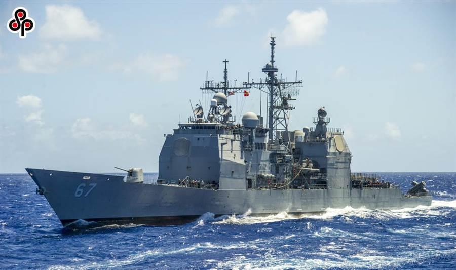 圖為美軍作戰艦「夏洛號」(USS Shiloh,CG-67)於台灣大選後,17日穿越台灣海峽。(摘自美國海軍官網)