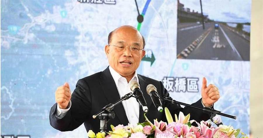 行政院長蘇貞昌指出,針對武漢肺炎已成立疫情中心,提醒民眾不要傳播未經證實的疫情。(圖/行政院提供)