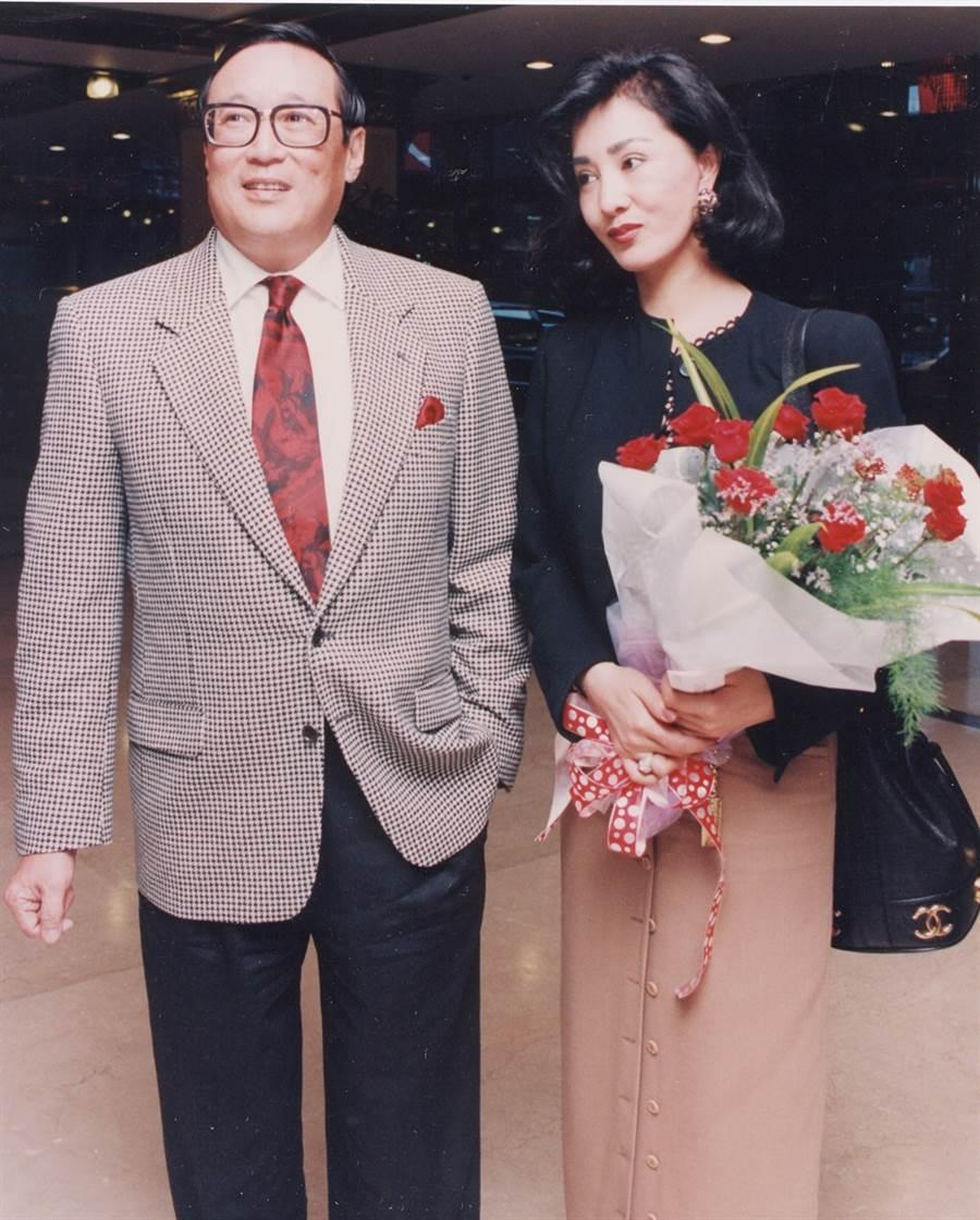 何莉莉與老公趙世光。(圖/中時資料照片)