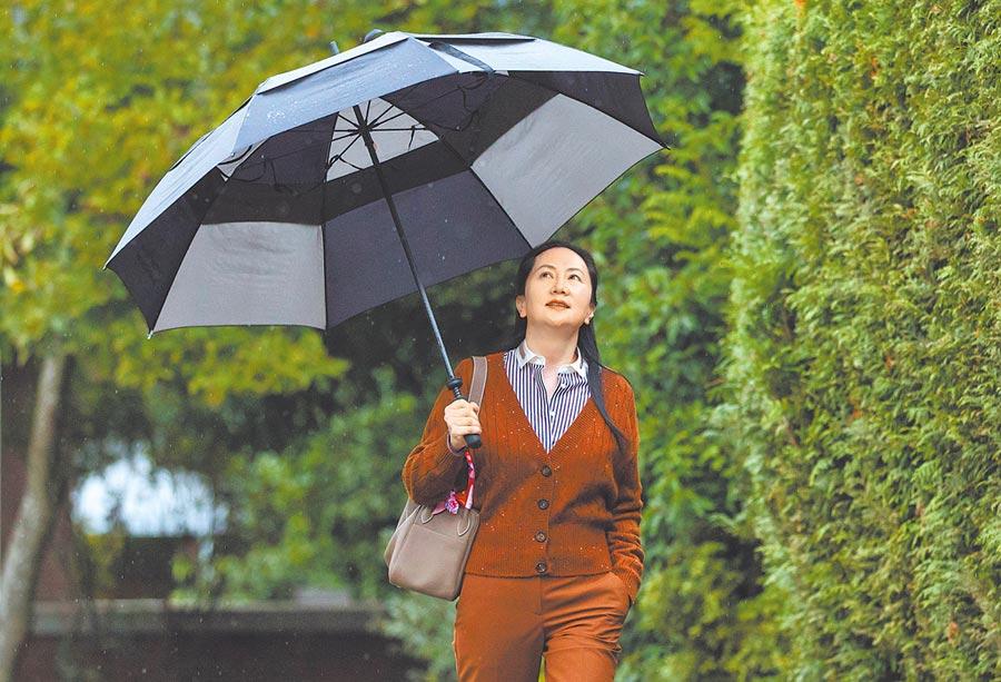華為財務長孟晚舟的引渡聽證會20日在溫哥華開庭,美媒指她九成九逃不過被引渡美國受審的命運。(美聯社)