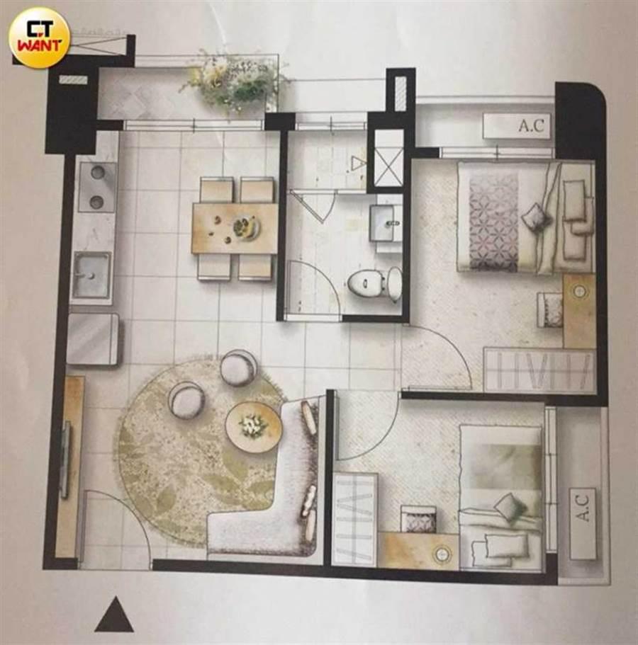 法官認為「聯上湖美學1期」雖稱是旅店宅,但格局設計呈現出一般居家裝潢及設施等,會讓消費者誤認為可供住宅使用。(攝影/宋岱融)