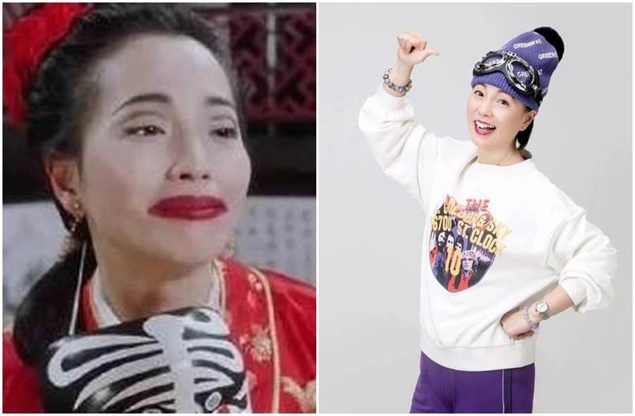 苑瓊丹在《唐伯虎點秋香》也逃不過被醜化。(圖/微博)