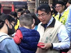 農曆春節不休息 台南市長黃偉哲寺廟祈福發紅包