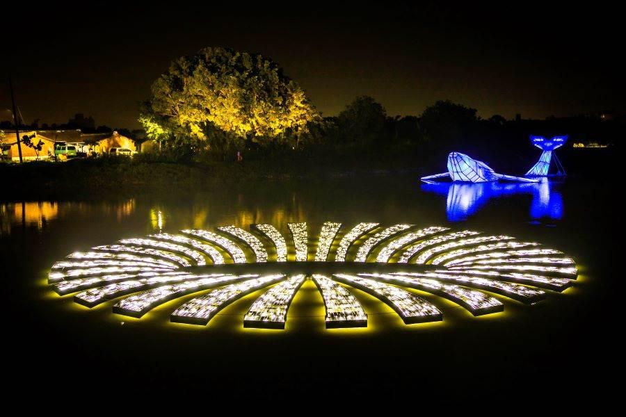 月津港燈節「水域燈區」:運用幻象-洞。(圖取自文化部官網)