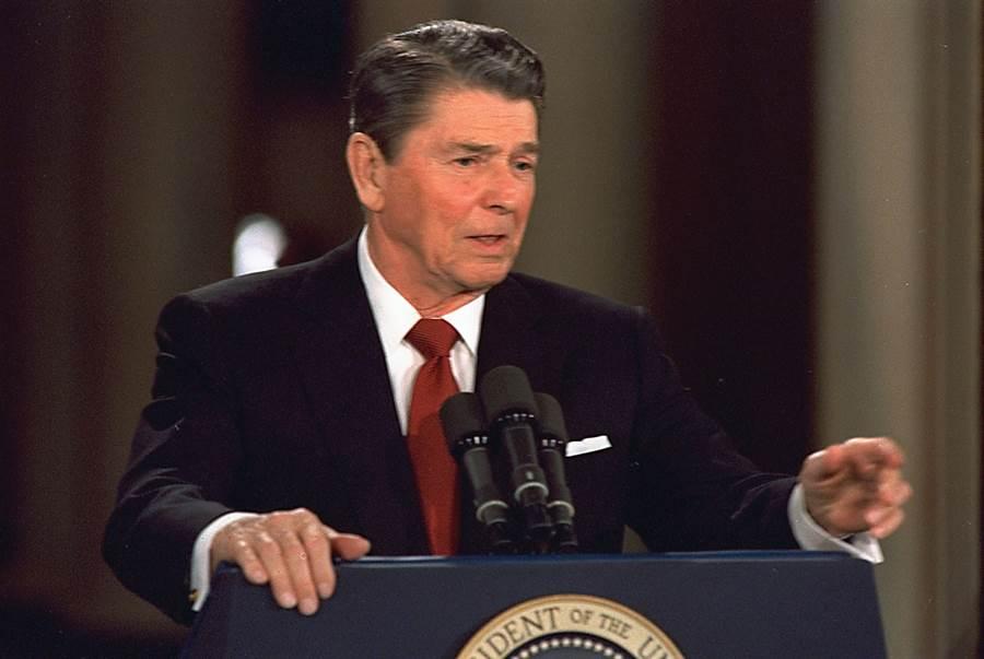 美國總統雷根。(圖/美聯社資料照片)