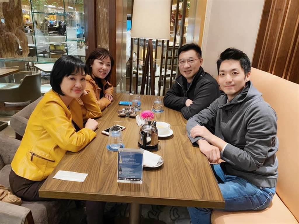 柯志恩與江啟臣、蔣萬安、李彥秀於1月20日聚會,鼓勵江出馬競選國民黨主席。照片取自柯志恩臉書