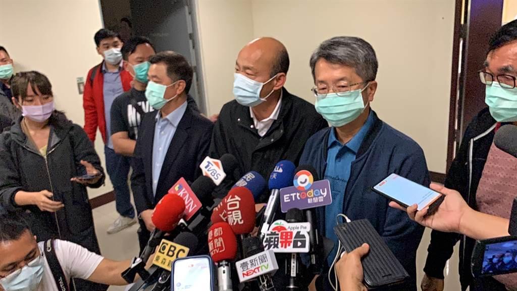 韓國瑜宣布高雄防疫升級應對武漢肺炎疫情。(圖/柯宗緯攝)