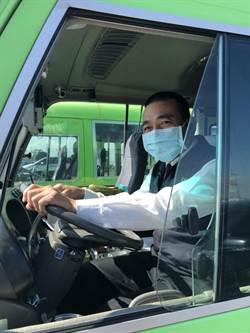 防疫升級,中市大眾運輸運將出勤要量體溫